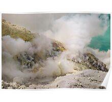 Sulphuric fumes of Kawah Ijen Poster