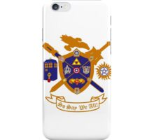 Geek Crest 2.0 without background iPhone Case/Skin