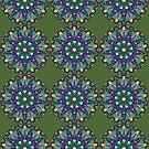 Purple, Blue, Green Mandala by Scott Mitchell