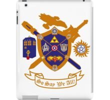 Geek Crest 2.0 without background iPad Case/Skin