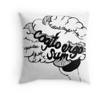 Cogito Ergo Sum Throw Pillow