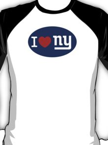 I LOVE NY (Giants) Euro Sticker - Alternate T-Shirt