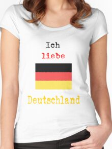 I Love Germany Vintage Style Women's Fitted Scoop T-Shirt