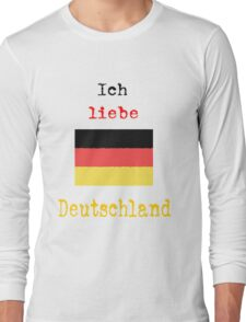 I Love Germany Vintage Style Long Sleeve T-Shirt
