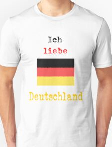 I Love Germany Vintage Style T-Shirt