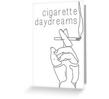 Cigarette Daydreams - In Black & White Greeting Card