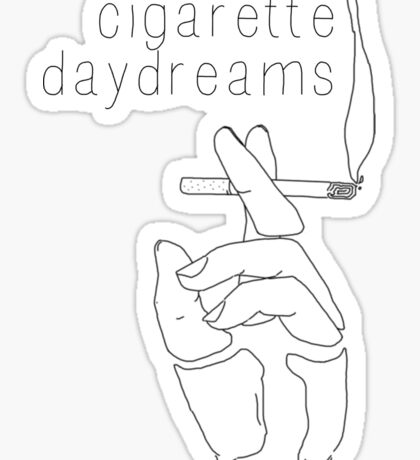 Cigarette Daydreams - In Black & White Sticker