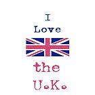 I Love The U.K. Vintage Style by wlartdesigns