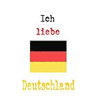 I Love Germany Vintage Style by wlartdesigns