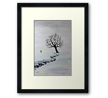 Winter Trek Framed Print