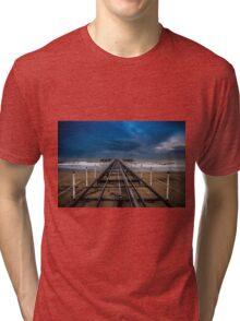 A dock structure Tri-blend T-Shirt