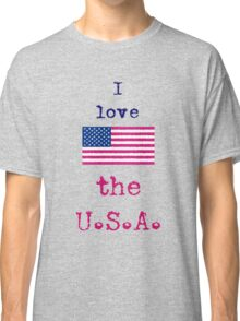 I Love The U.S.A. Vintage Style Classic T-Shirt