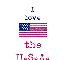 I Love The U.S.A. Vintage Style by wlartdesigns