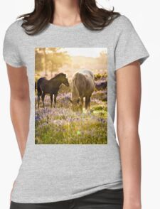 Horse and foal in the New Forest Womens Fitted T-Shirt