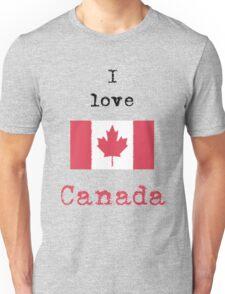 I Love Canada Vintage Style Unisex T-Shirt