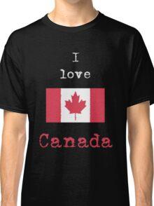 I Love Canada Vintage Style (dark tees) Classic T-Shirt