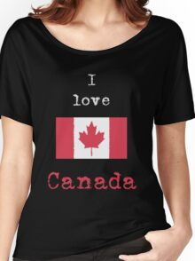 I Love Canada Vintage Style (dark tees) Women's Relaxed Fit T-Shirt