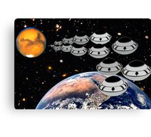 NAZA Reports a Fleet of UFOs has been Spotted Canvas Print