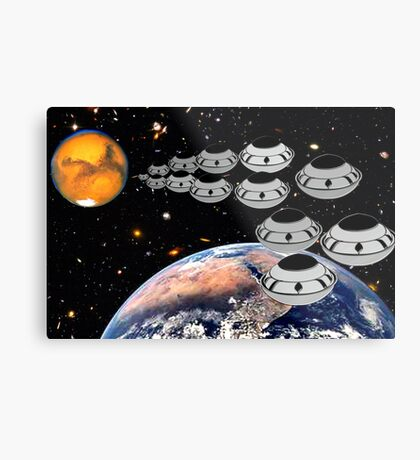 NAZA Reports a Fleet of UFOs has been Spotted Metal Print