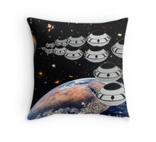 NAZA Reports a Fleet of UFOs has been Spotted Throw Pillow