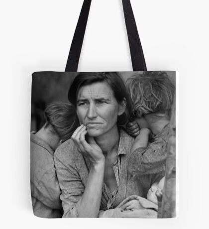 Vintage Photograph of Migrant Mother Tote Bag
