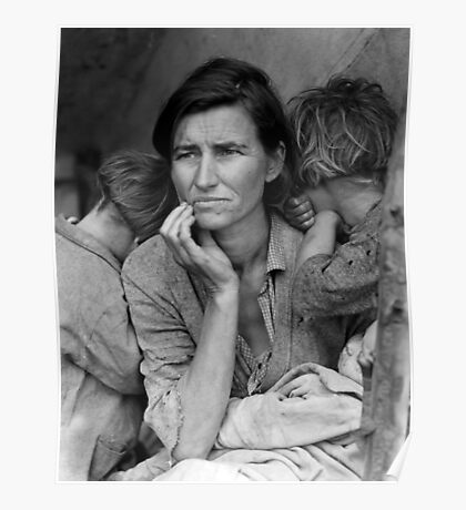 Vintage Photograph of Migrant Mother Poster
