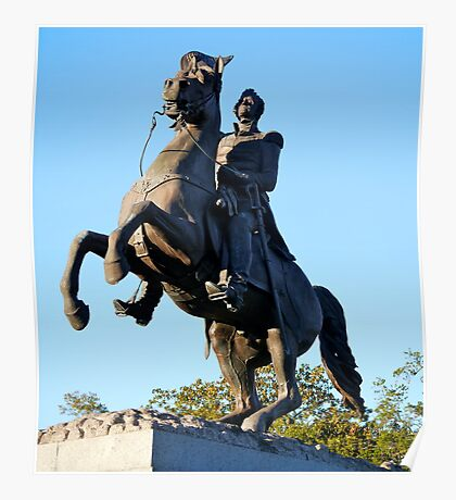 Andrew Jackson statue, Jackson Square, New Orleans Poster