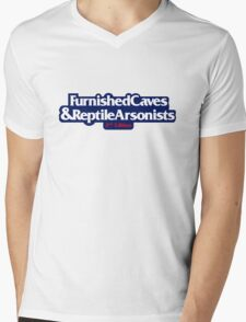Furnished Caves & Reptile Arsonists Mens V-Neck T-Shirt
