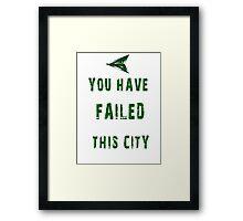 Arrow frase Framed Print
