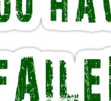 Arrow frase Sticker