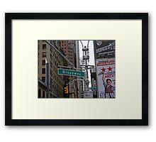 Broadway, NYC Framed Print