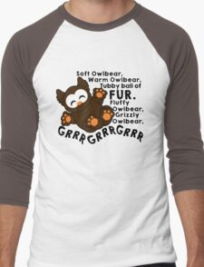 Soft Owlbear - Grrr Grrr Grrr Men's Baseball ¾ T-Shirt