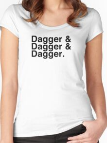 Helvetica List - Dagger Dagger Dagger - Critical Role Women's Fitted Scoop T-Shirt