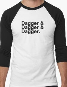Helvetica List - Dagger Dagger Dagger - Critical Role Men's Baseball ¾ T-Shirt