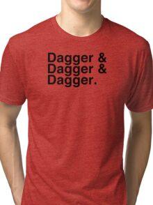 Helvetica List - Dagger Dagger Dagger - Critical Role Tri-blend T-Shirt
