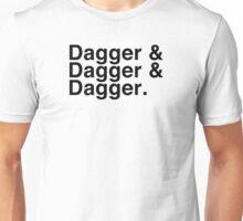 Helvetica List - Dagger Dagger Dagger - Critical Role Unisex T-Shirt