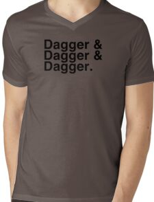 Helvetica List - Dagger Dagger Dagger - Critical Role Mens V-Neck T-Shirt