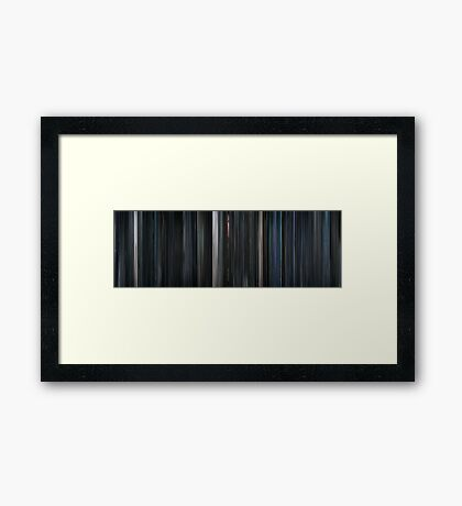 Moviebarcode: Iron Sky (2012) Framed Print