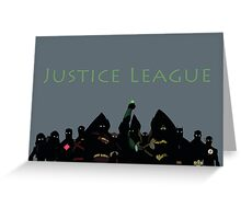 The Justice League in Young Justice Greeting Card