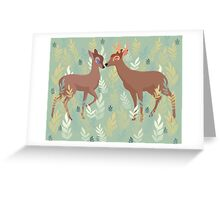 Bambi and Faline Greeting Card