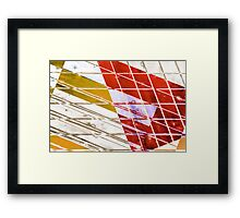 Woody Abstract Red Orange Neutral Framed Print