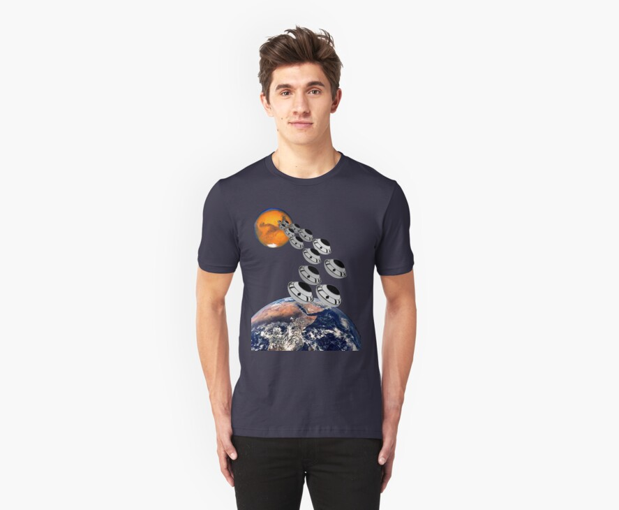 NAZA Reports a Fleet of UFOs has been Spotted T-shirt by Dennis Melling