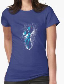 Mega Man Splattery T-Shirt Womens Fitted T-Shirt