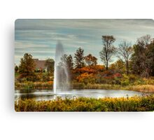 Fountain in the Fall Canvas Print