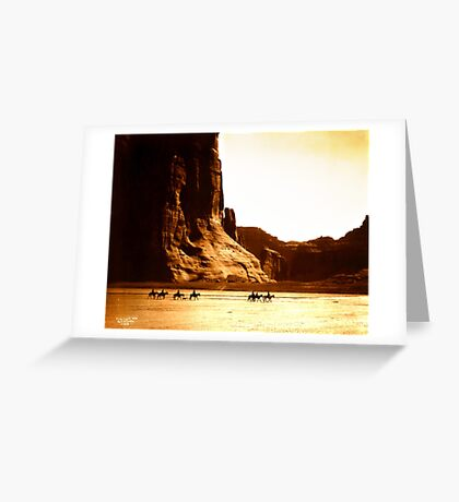 Vintage Photograph of Canyon de Chelly Greeting Card