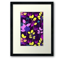 Foliage Lilac & Lemon [iPhone / iPod Case and Print] Framed Print
