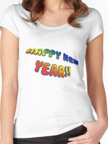 Happy New Year Women's Fitted Scoop T-Shirt