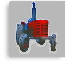 Classic Red Tractor Canvas Print