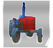 Classic Red Tractor Poster