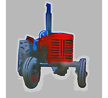Classic Red Tractor Photographic Print